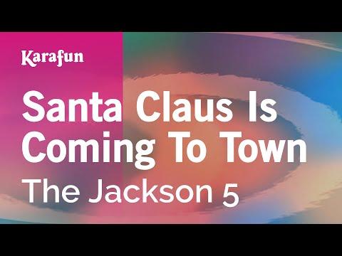 Karaoke Santa Claus Is Coming To Town - The Jackson 5 *
