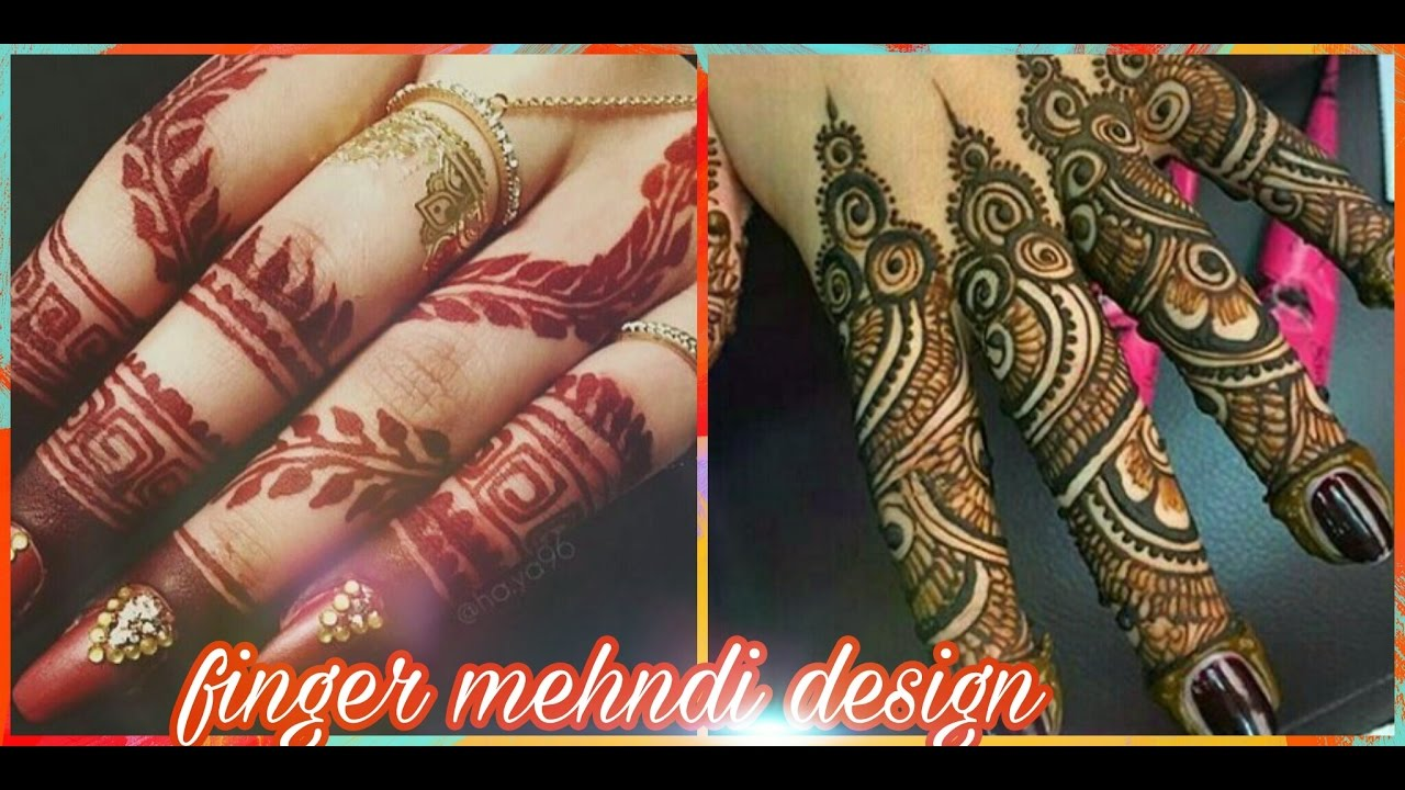 Mehndi Fingers Designs : Finger mehndi design must watch youtube