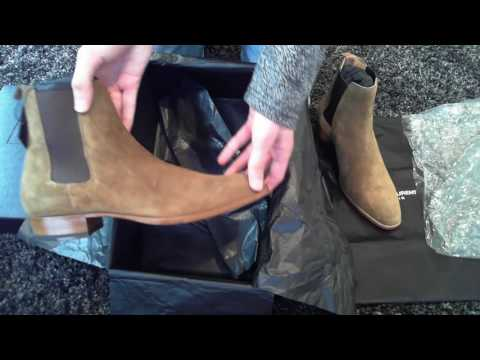 cc1eb270987 Saint Laurent Wyatt 30 Chelsea Boots Unboxing - YouTube