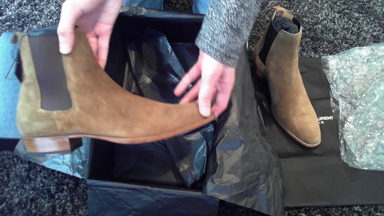 8d5a523c1362 Saint Laurent Wyatt 30 Chelsea Boots Unboxing - YouTube