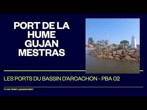 PBA 02 Le Port de La Hume Gujan-Mestras Visite des  Ports du Bassin d'Arcachon depuis le Cap Ferret