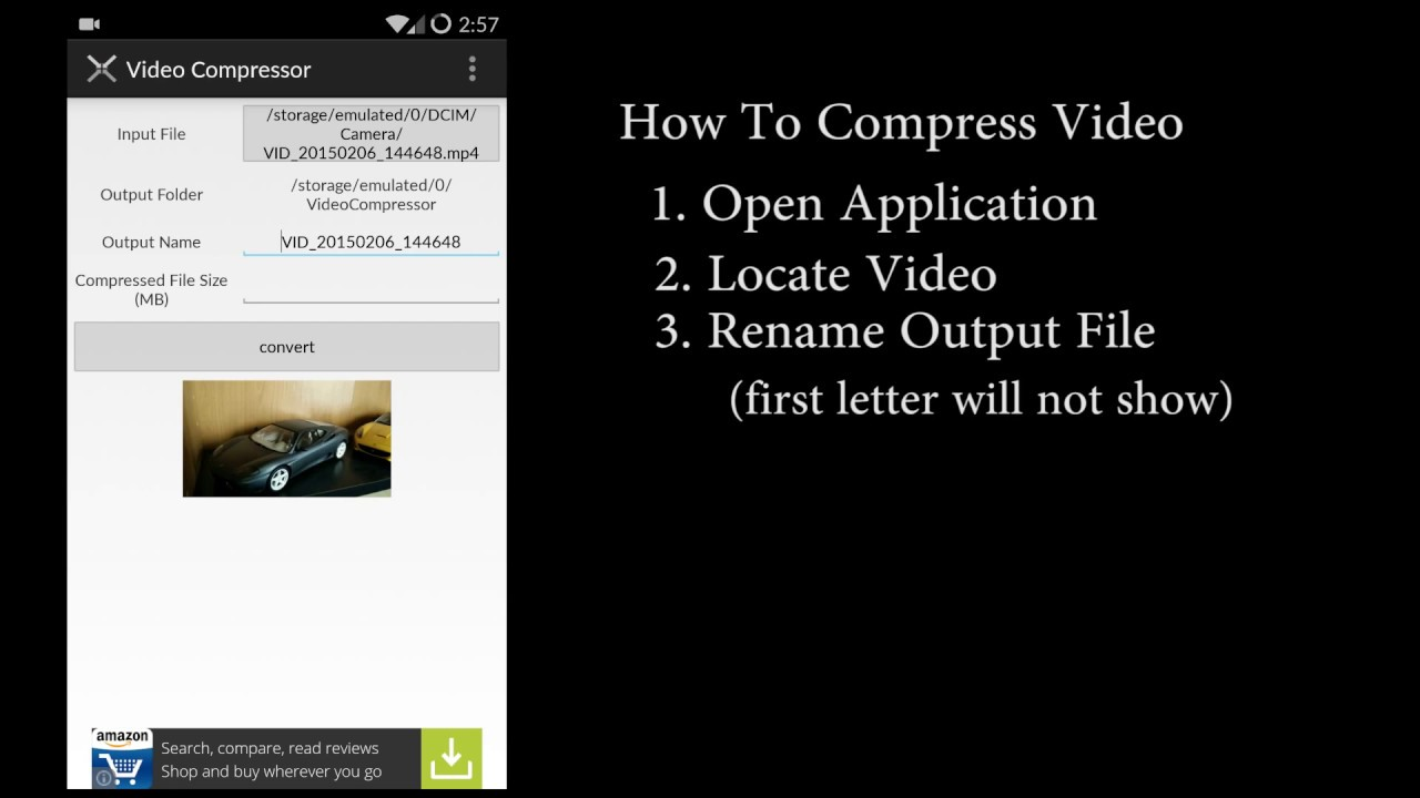 compress videos on android - YouTube