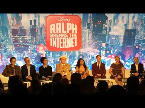 """Ralph Breaks the Internet"" Press Conference with John C. Reilly, Sarah Silverman +, Wreck-It Ralph"