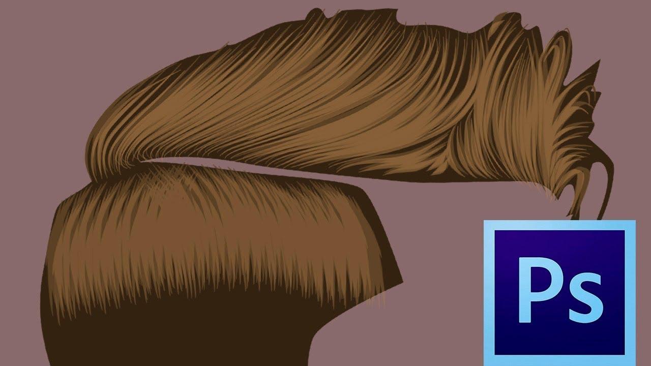 Desenhar Vector Cabelo Photoshop Tutorial Draw Vector Hair Photoshop