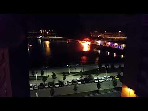 Incendio del barco 'Siempre Rufo' en la lonja de Santander