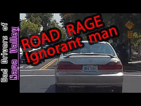 Road Rage With Ignorant Irate Man Who Nearly Caused Crash