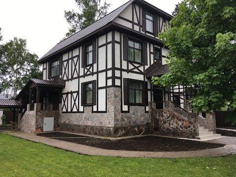 Реконструкция кирпичного дома в стиле фахверк. Из г......  конфетка.