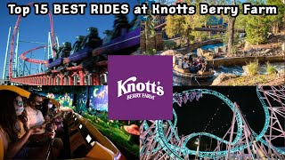 Top 15 BEST RIDES at Knotts Berry Farm (2021)