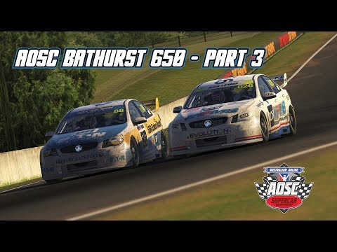iRacing: AOSC Bathurst 650 - Part 3 (V8 Supercar @ Bathurst)