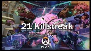 Epic D.Va Killstreak  - Overwatch