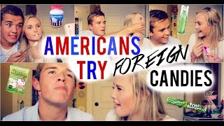 AMERICANS TRY FOREIGN CANDIES | ft. Luke