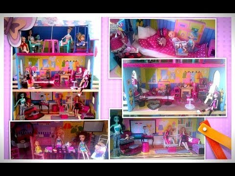 Casa de mu ecas barbie decoraci n youtube - Casa de barbie ...