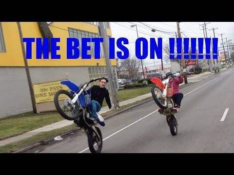 ITS ON !!!!! $3000 + CASH DIRT BIKE BET