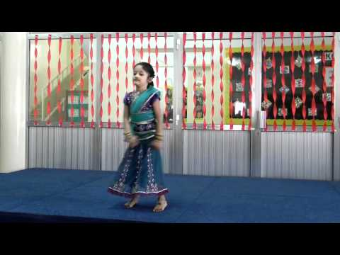 Bhumi's first solo dance performance in school