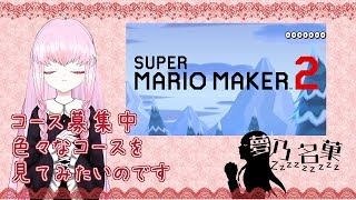 【Super Mario Maker 2#1】コース募集中 色々なコースを遊んでみます~【夢乃名菓ののんびりゲーム生放送】 #Vtuber #スーパーマリオメーカー2