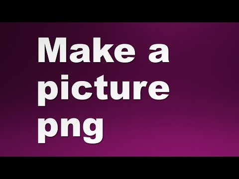 How a picture make png