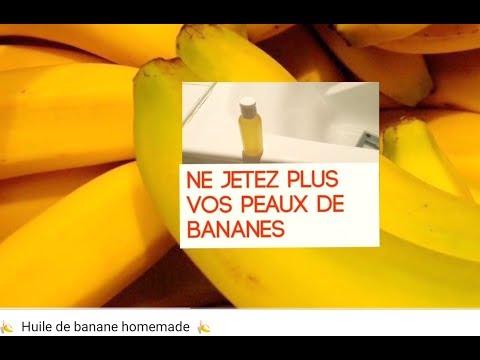 🍌  Huile de banane homemade  🍌