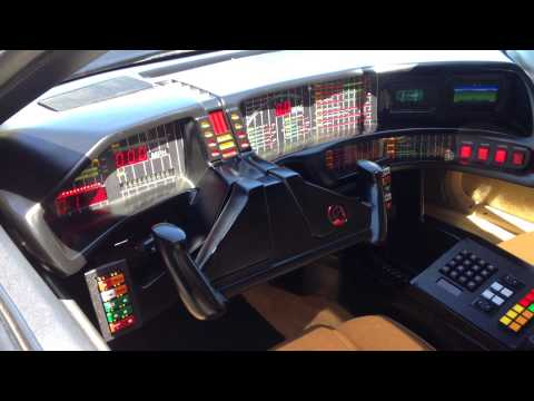 an Exact working replica of the KITT Knight Rider car signed by David Hasselhoff