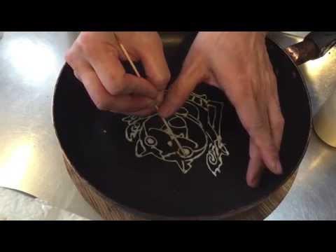 Pancakeart Tutorial パンケーキアートの作り方(ジバニャン)