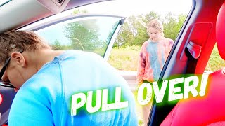 STUCK ON THE HIGHWAY (SICK) | Family 5 Vlogs