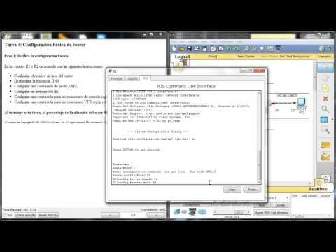 Configuración básica de router en Packet Tracer