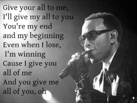 All of Me - John Legend Lyrics Testo