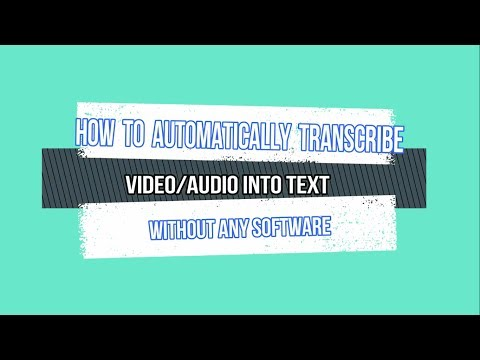 Transcribe audio to text automatically online free