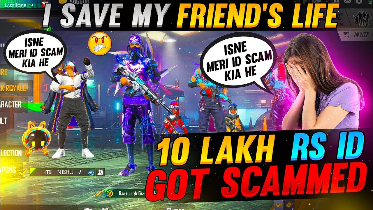 I Help My Girl Best Friend 😭 Who Was About To Suicide😫  ID Scam - Garena Freefire