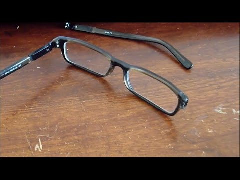 How to repair broken glasses for less than a dollar! (Properly!)