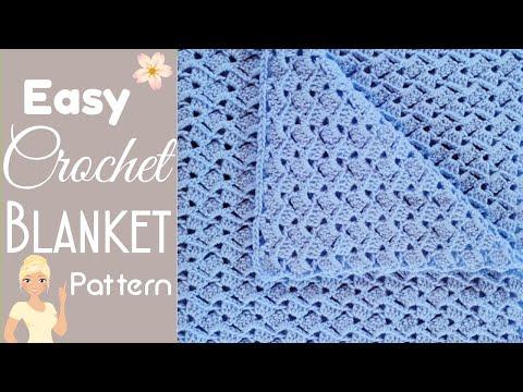 EASIEST CROCHET BABY BLANKET EVER – The Drunken Granny Baby Blanket