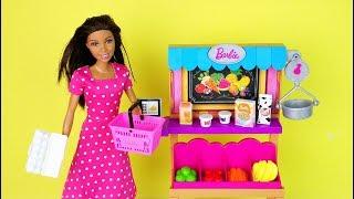 Куклы #Барби МАГАЗИН ФРУКТОВ Открываем Новый Набор Игрушка для девочек Канал Про Школу