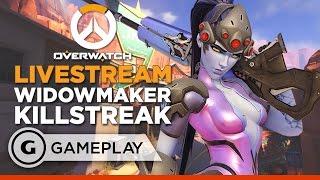 Widowmaker Killstreak - Overwatch Gameplay