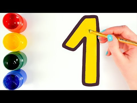 Пишем цифры от 1 до 20. Видео для детей.