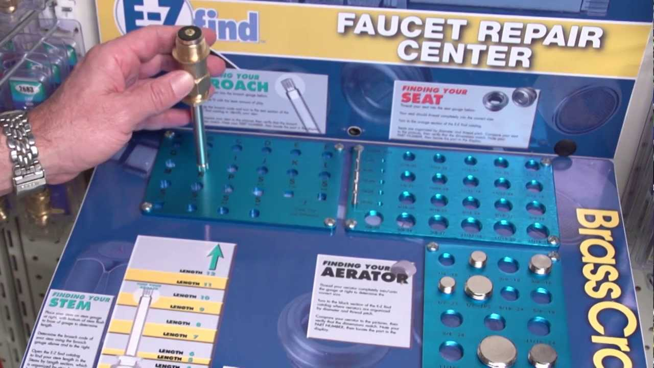 How to Use the BrassCraft E-Z Find™ Faucet Repair Center - YouTube