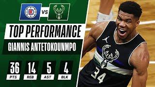 😤 36 PTS, 14 REB, 4 BLK For Giannis Antetokounmpo!
