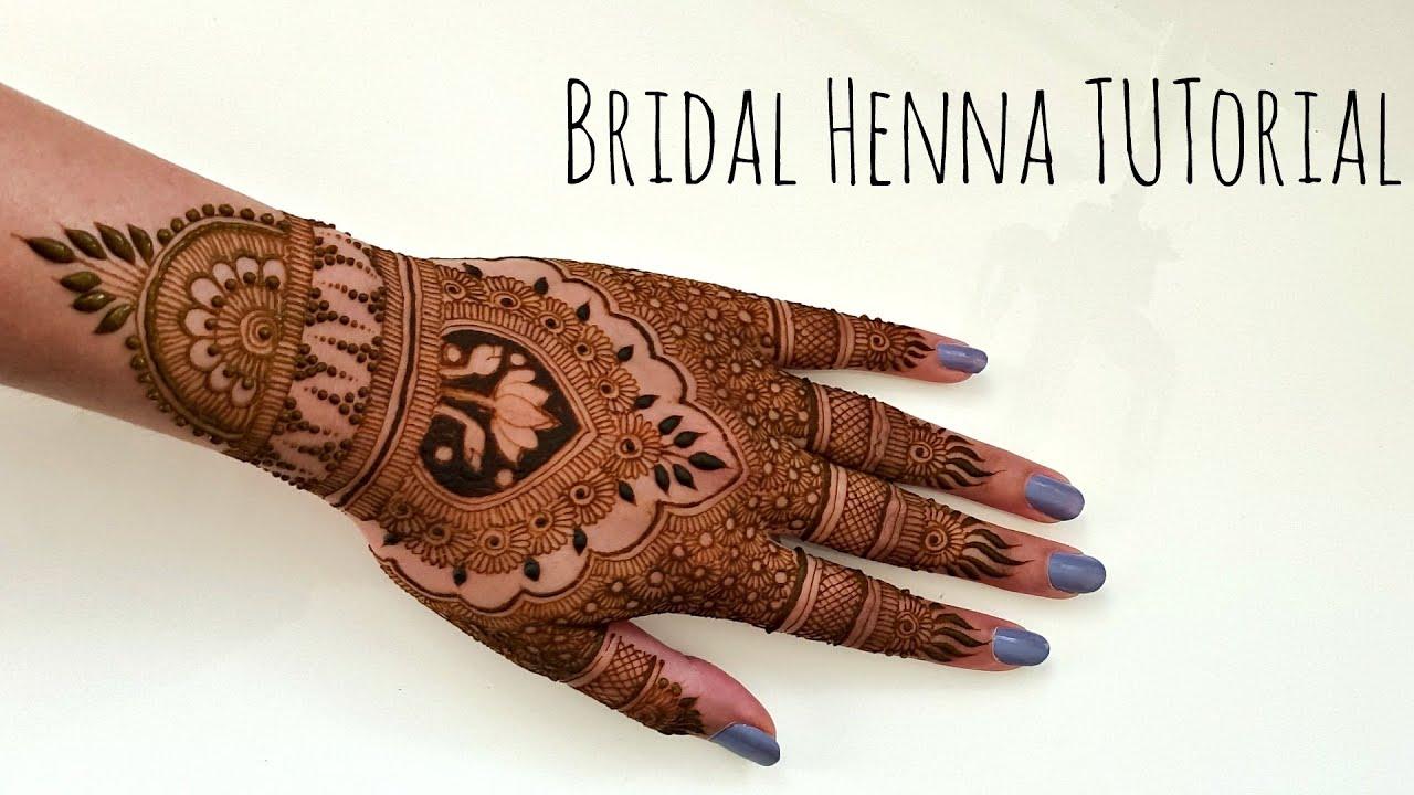 Bridal henna mehndi tutorial henna art by aroosa youtube baditri Images