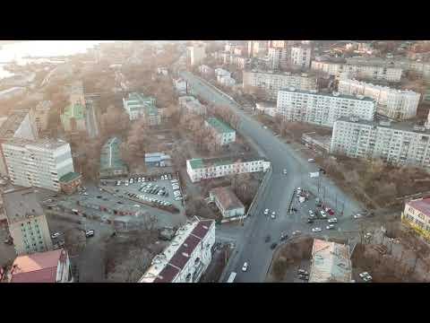 Полет над площадью Луговая, Владивосток