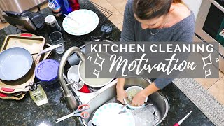 KITCHEN Baking Mess CLEANING MOTIVATION // Cleaning Mom
