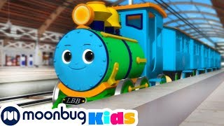 Counting 1 to 10 Trains | Little Baby Bum | Trains for Children | Train Song | Moonbug for Kids