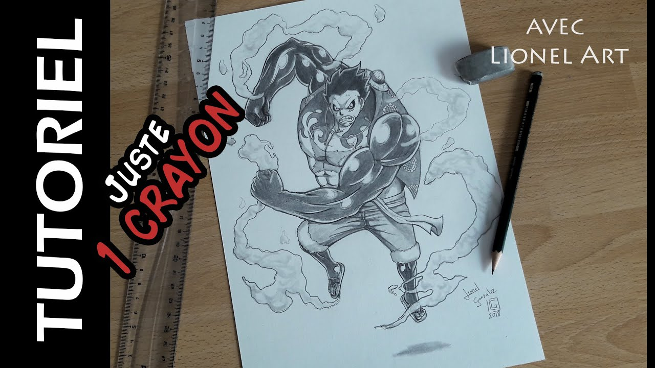 Comment dessiner luffy gear 4 avec 1 crayon hb youtube - Comment dessiner luffy ...