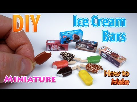 DIY Realistic Miniature  Ice Cream Bars | DollHouse accessories and Toys for Barbie