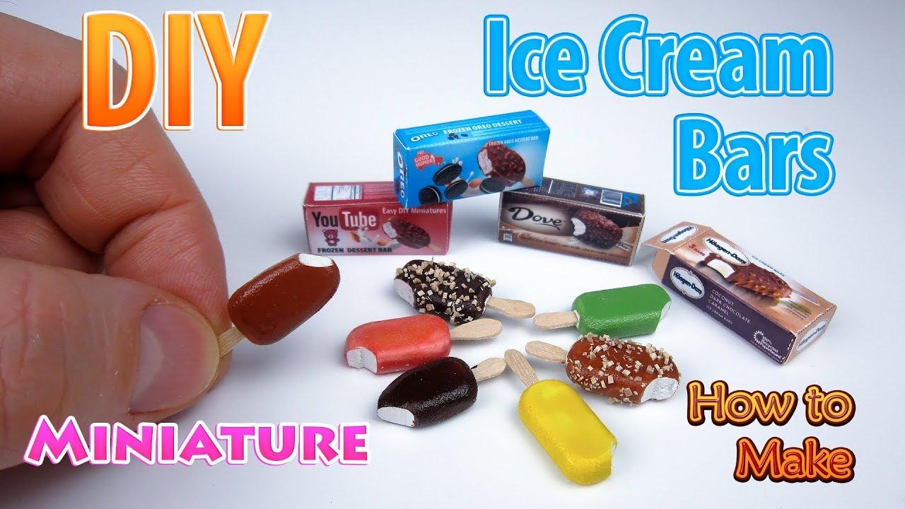 Diy realistic miniature ice cream bars dollhouse no polymer clay diy realistic miniature ice cream bars dollhouse no polymer clay ccuart Images