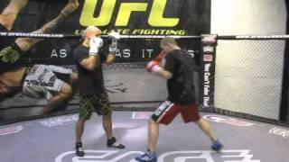 UFC Bisping Jab Step Drill