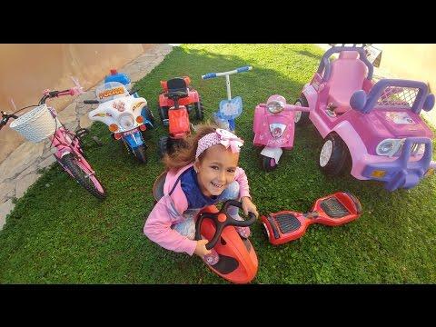 Elif'in Garajı ,jeep Pembiş Motor Kaykay Tüm Araçlar Bir Arada, Eğlenceli çocuk Videosu