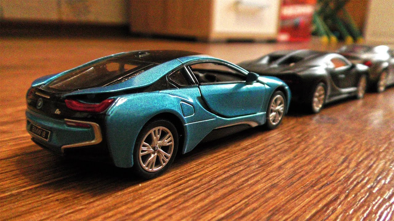 Sports Cars for Kids Forming Long Line || Toy Car Play Video