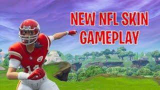 Fortnite Mobile   New NFL Skin Gameplay