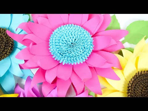 How to Make Paper Sunflowers - Paper Flower Tutorial