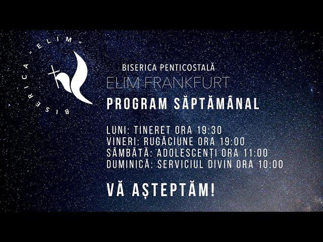 Programul bisericii Elim Frankfurt. 10 .05. 2020