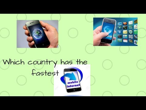 Which country has the fastest mobile internet??