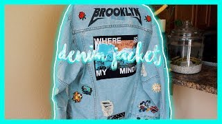 MY CUSTOM DENIM JACKET AND PATCH COLLECTION!